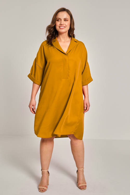 Plain tencel dress