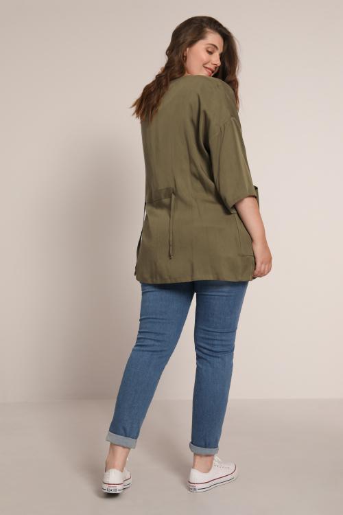 Plain tencel kimono jacket