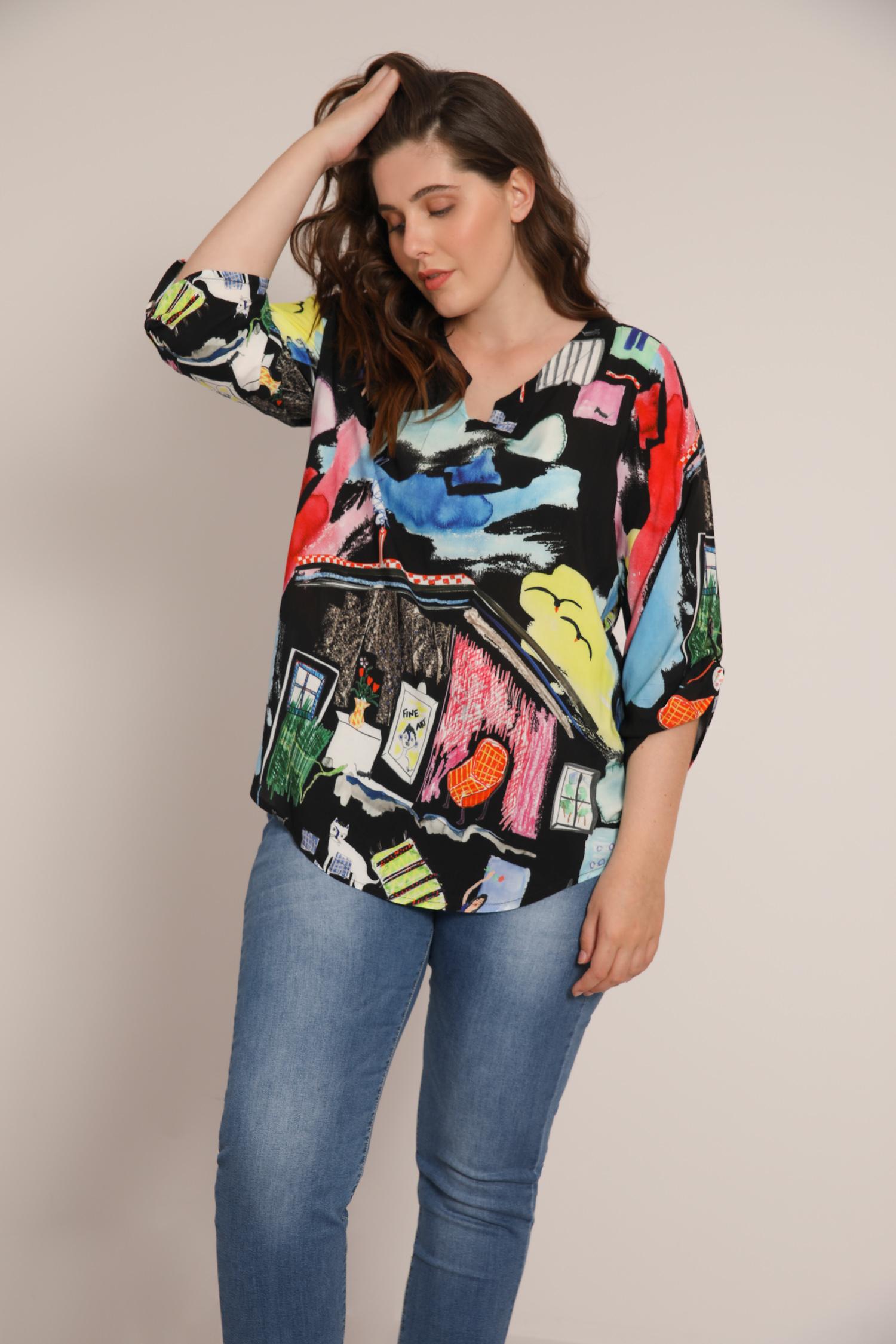 Printed blouse