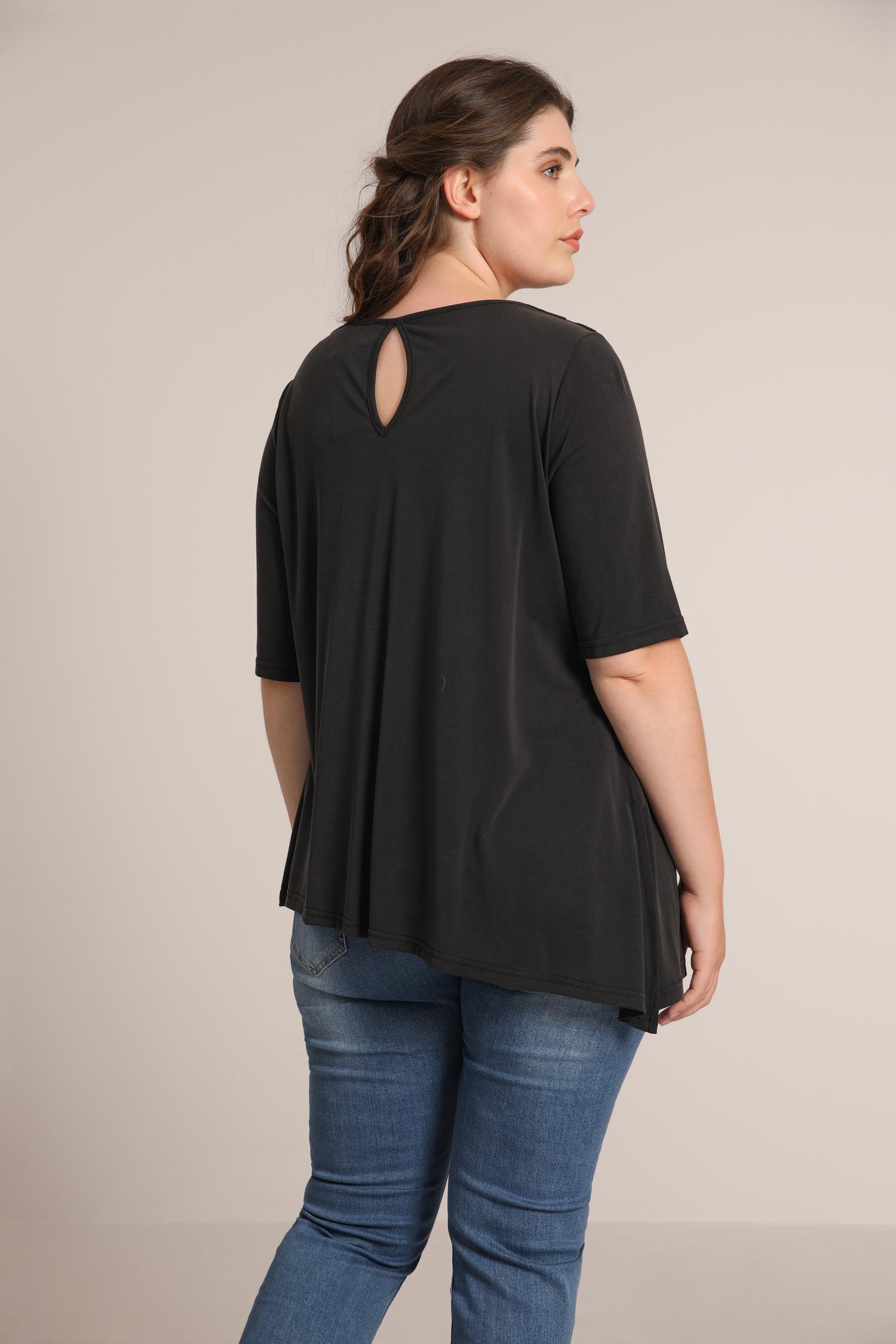 Cowl neck modal T-shirt