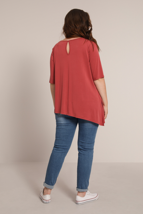 Cowl neck modal T-shirt