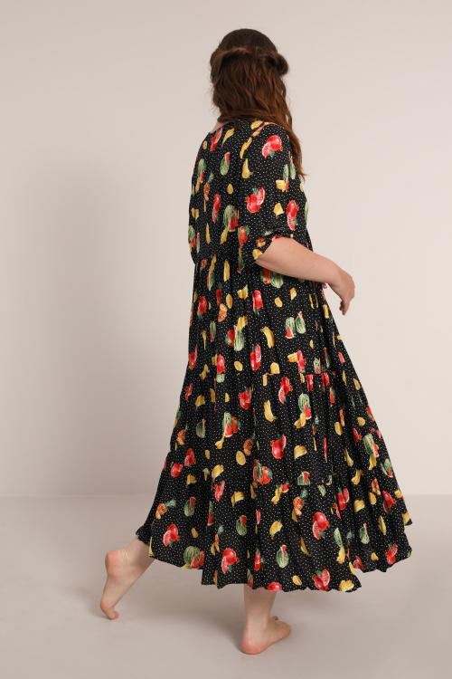 Printed viscose dress