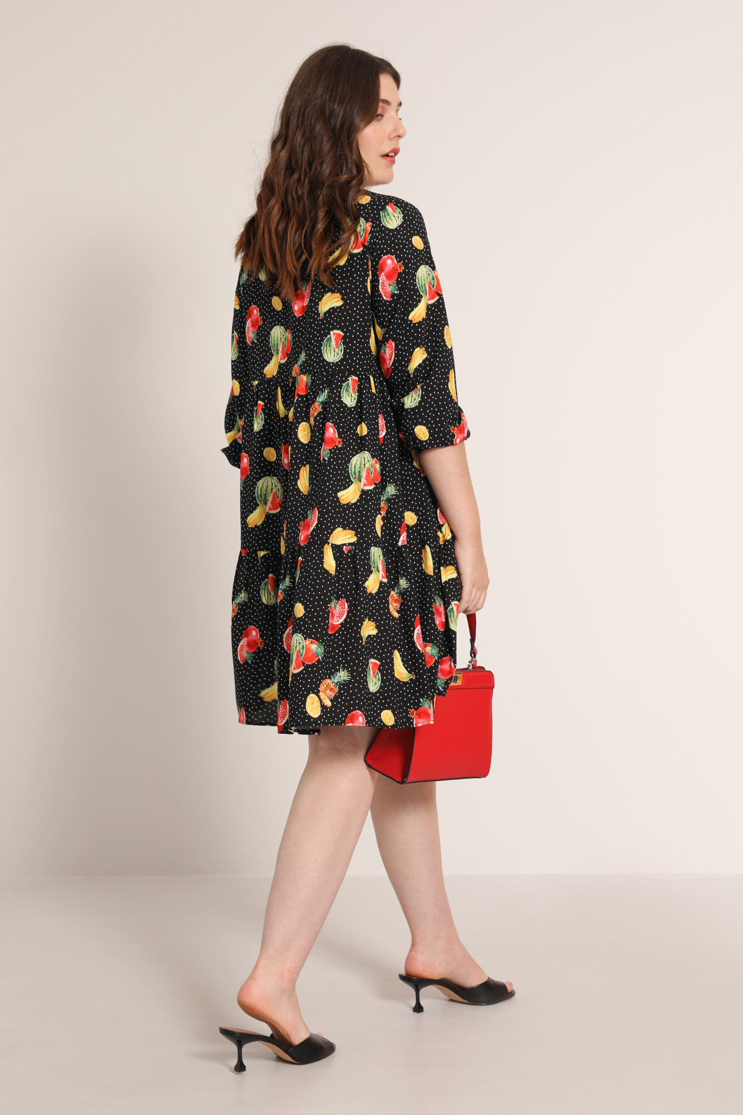 Printed ruffle tunic / dress