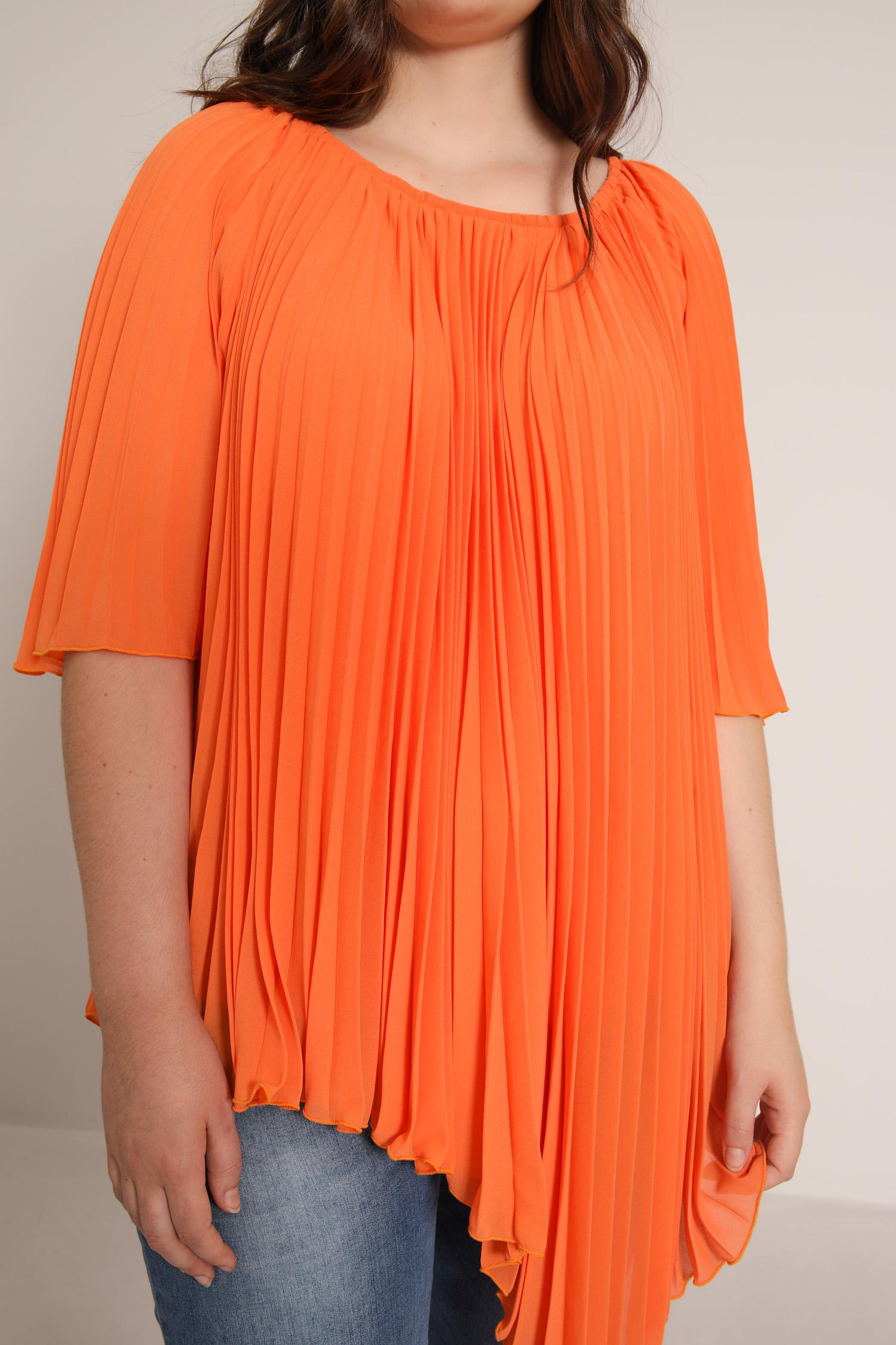 Plain pleated sun blouse