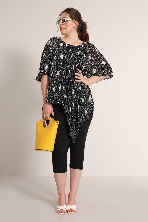 Plain printed pleated sun blouse