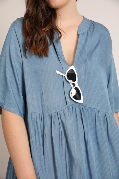 Empire-shaped tencel dress