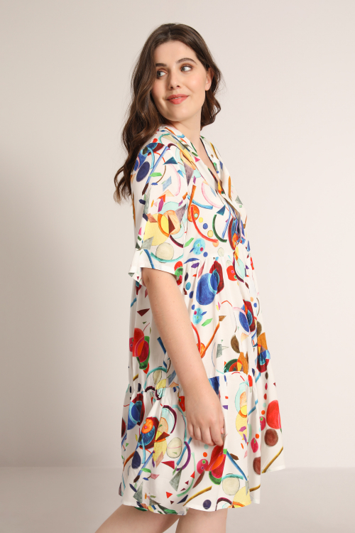 Empire ruffle dress