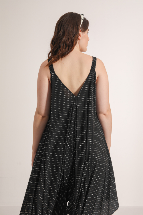 Harem jumpsuit with dots