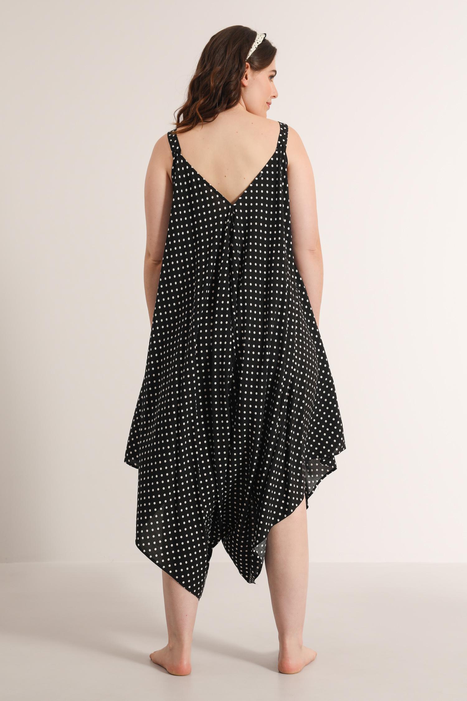 Harem jumpsuit with dots