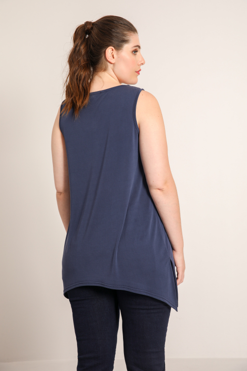 Tank top in plain modal