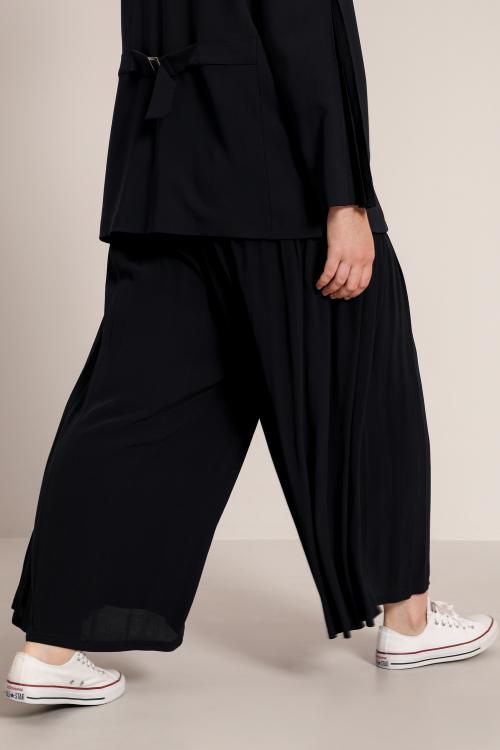 Pleated pant skirt pants