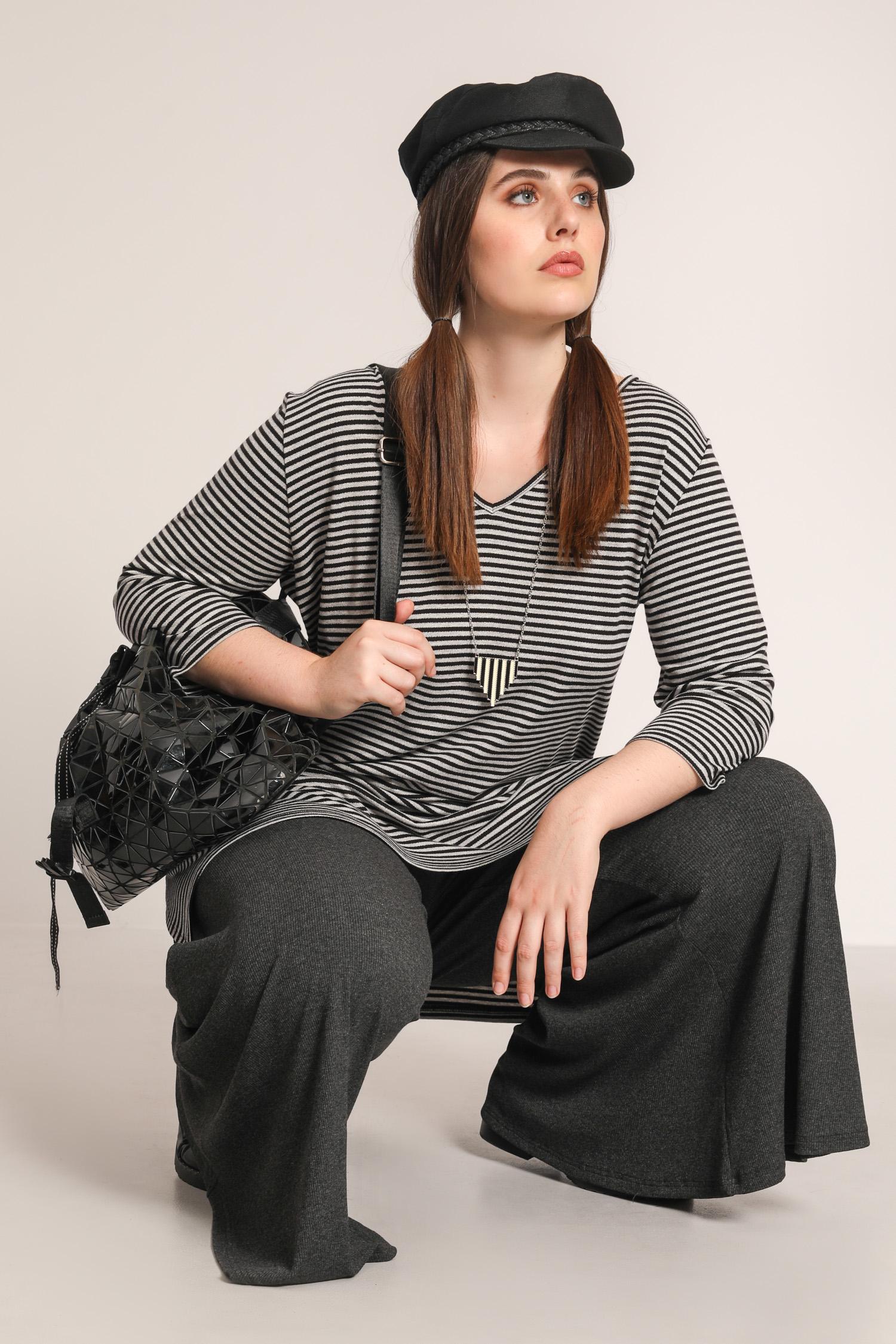 Long striped t-shirt