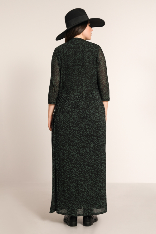 Long pleated effect dress