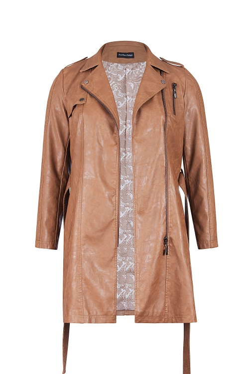 Trench coupe Perfecto - Camel