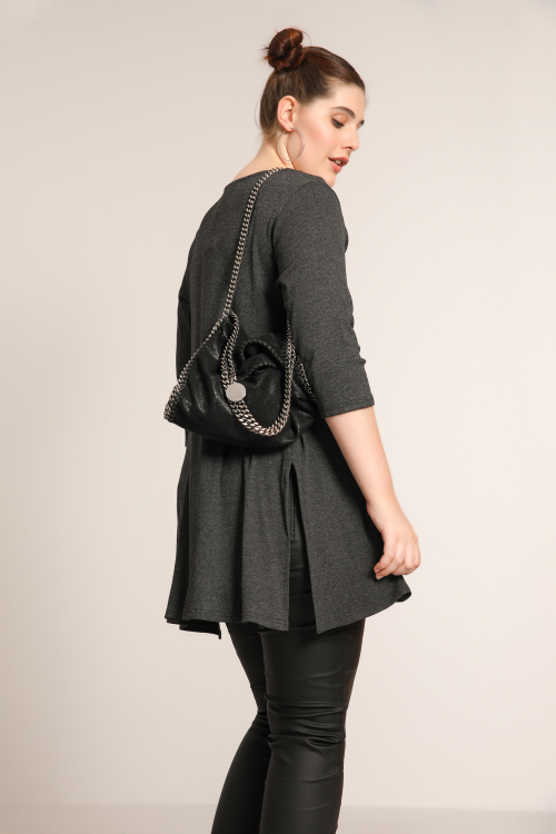 Tunic with interlaced straps