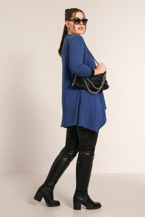 Two-tone knit jacket