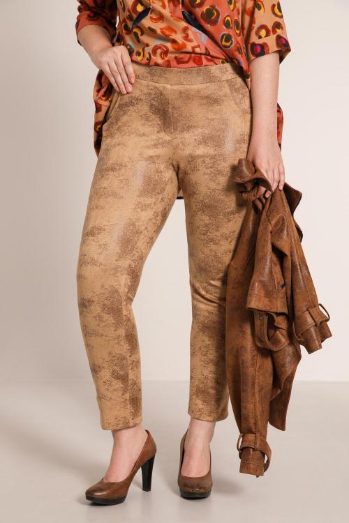 Vegan leather straight pants
