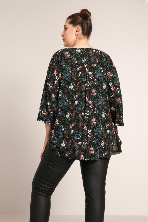 Printed fibranne blouse