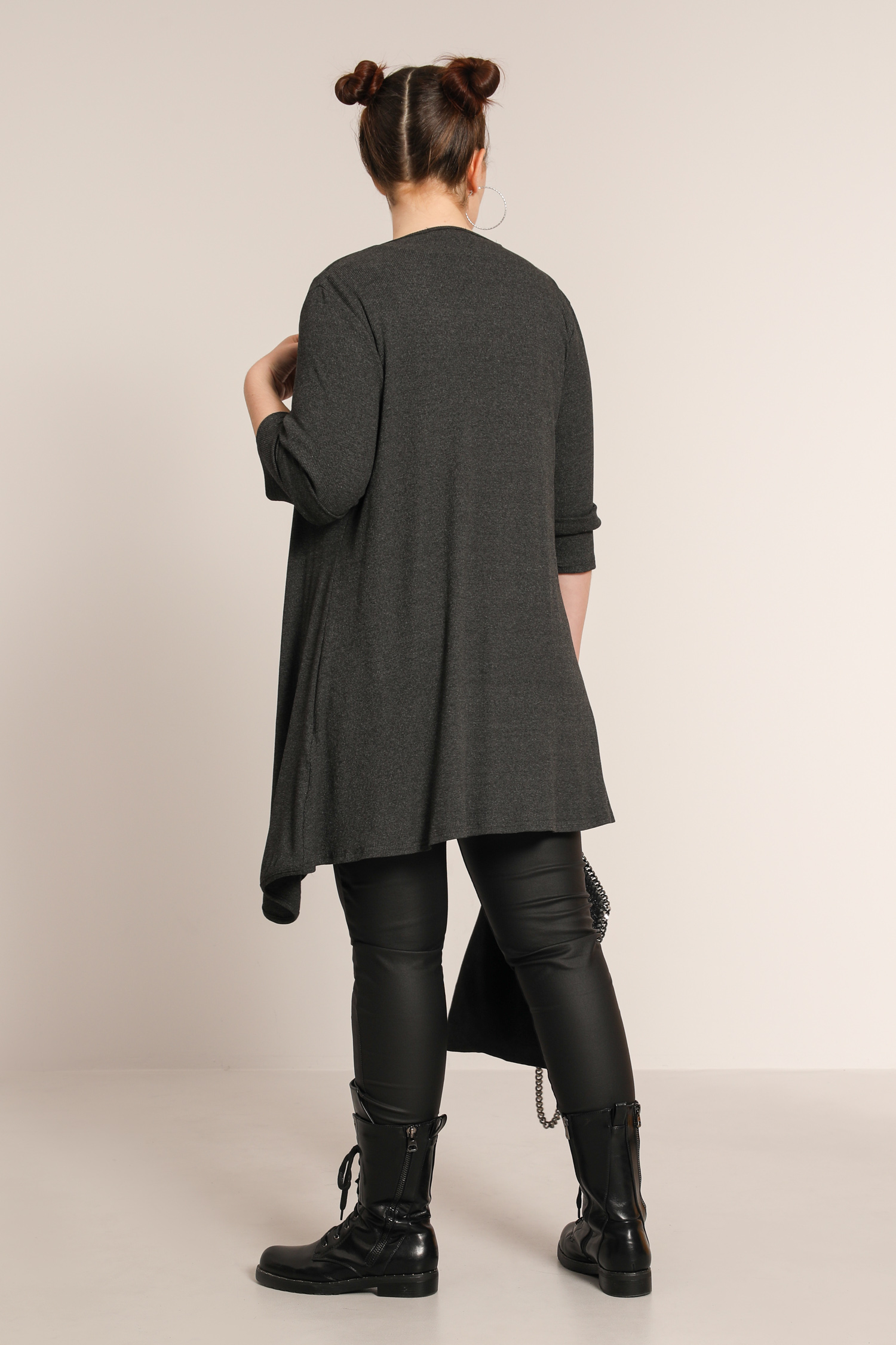 Plain rib jacket