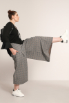 Pleated culotte-style pants