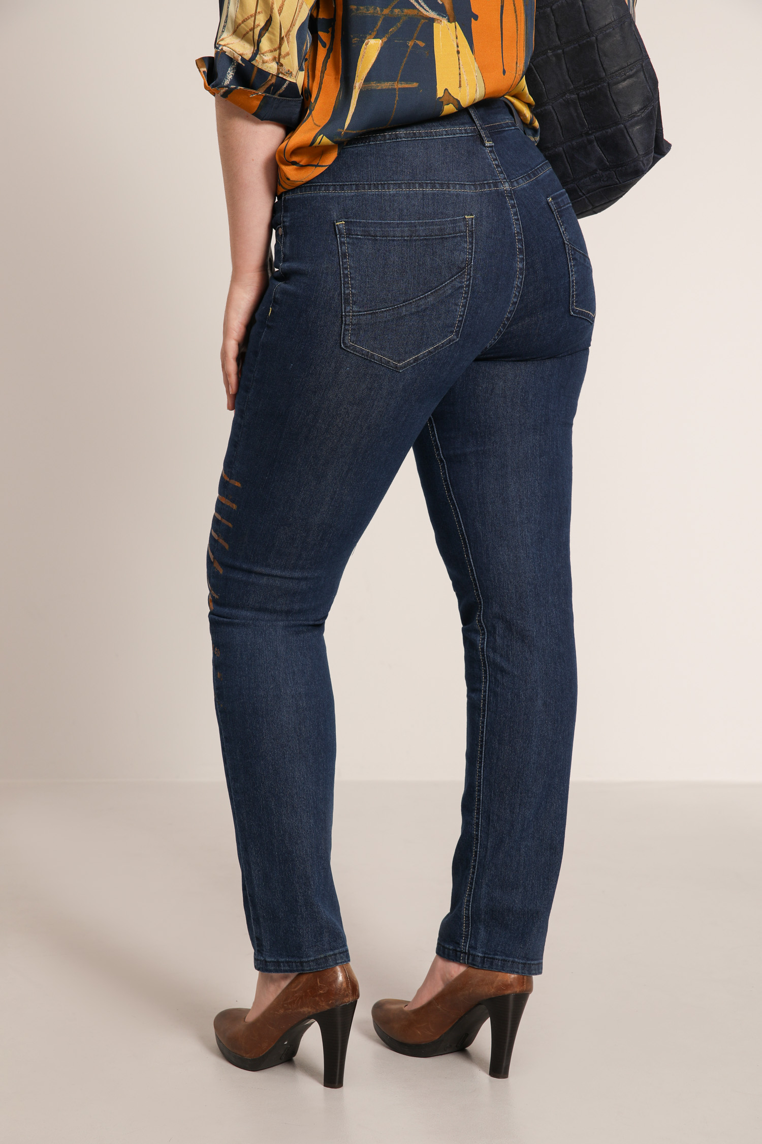 Jeans with screen printing