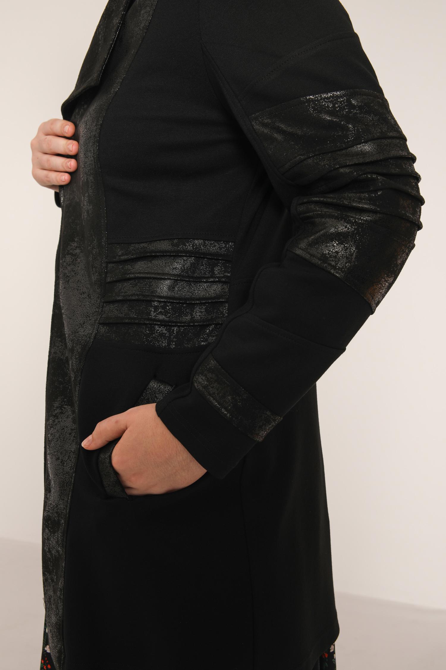 Bi-material Milan jacket and vegan leather