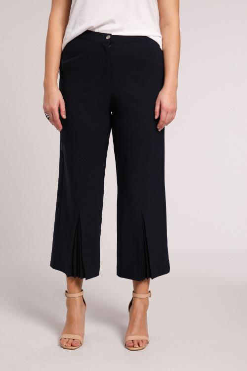 7/8 pants bi strech plain with pleated