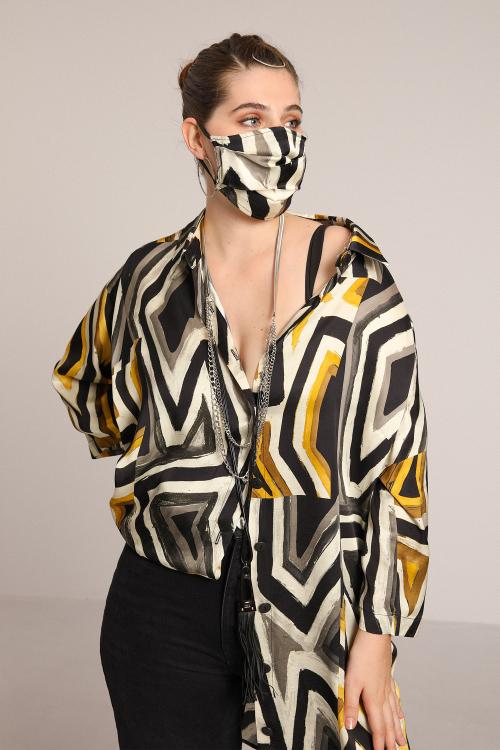 Washable satin protective mask
