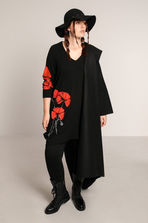 Long tunic with serigraphy