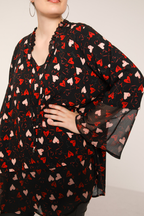 Trapeze blouse in veil and fibranne (delivery 15/20 October).