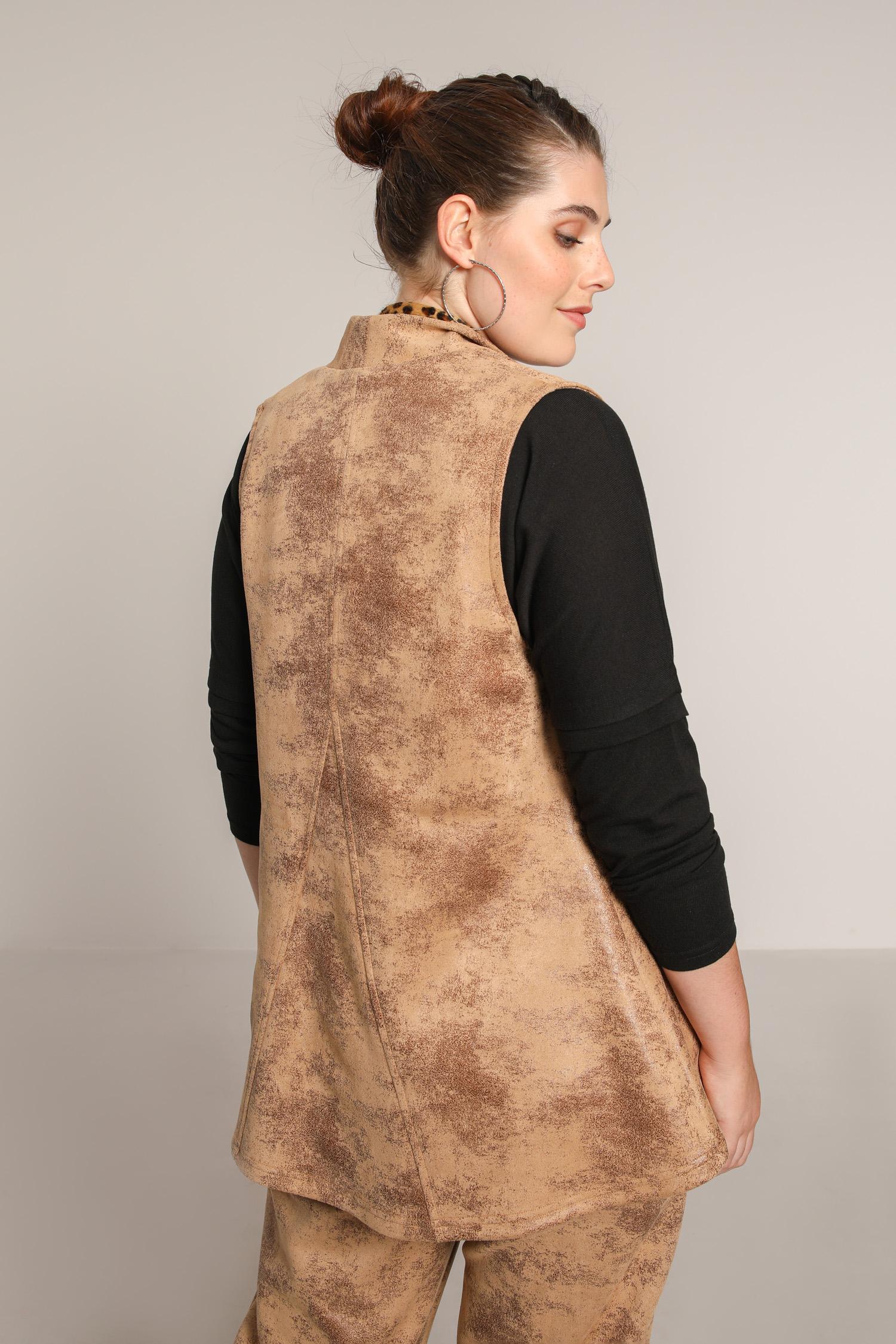 Vegan leather vest