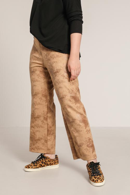Aged vegan leather pants