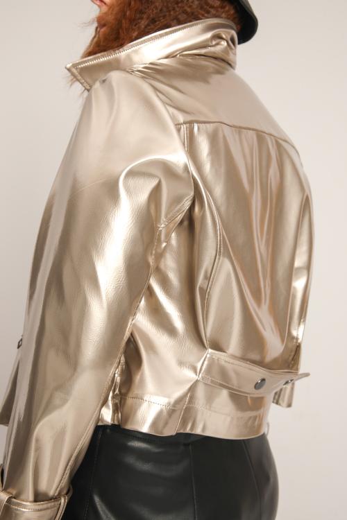 Vinyl biker style jacket