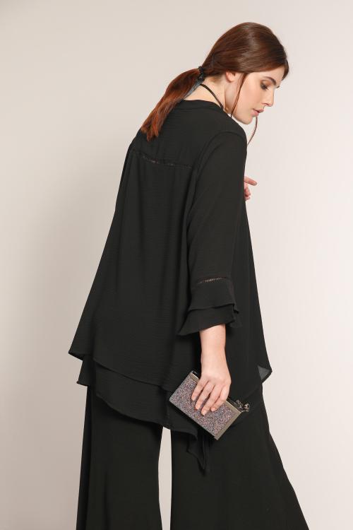 Plain layered blouse
