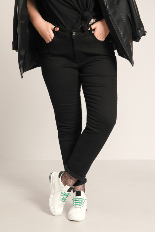 5-pocket black jeans in organic cotton