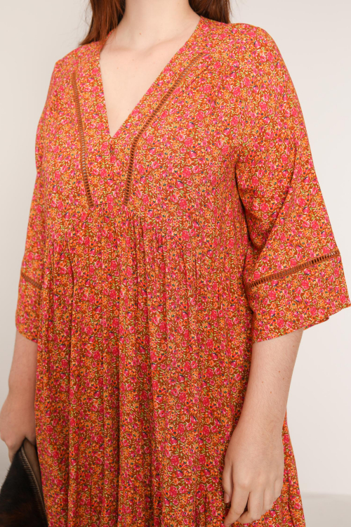 Printed bohemian style dress