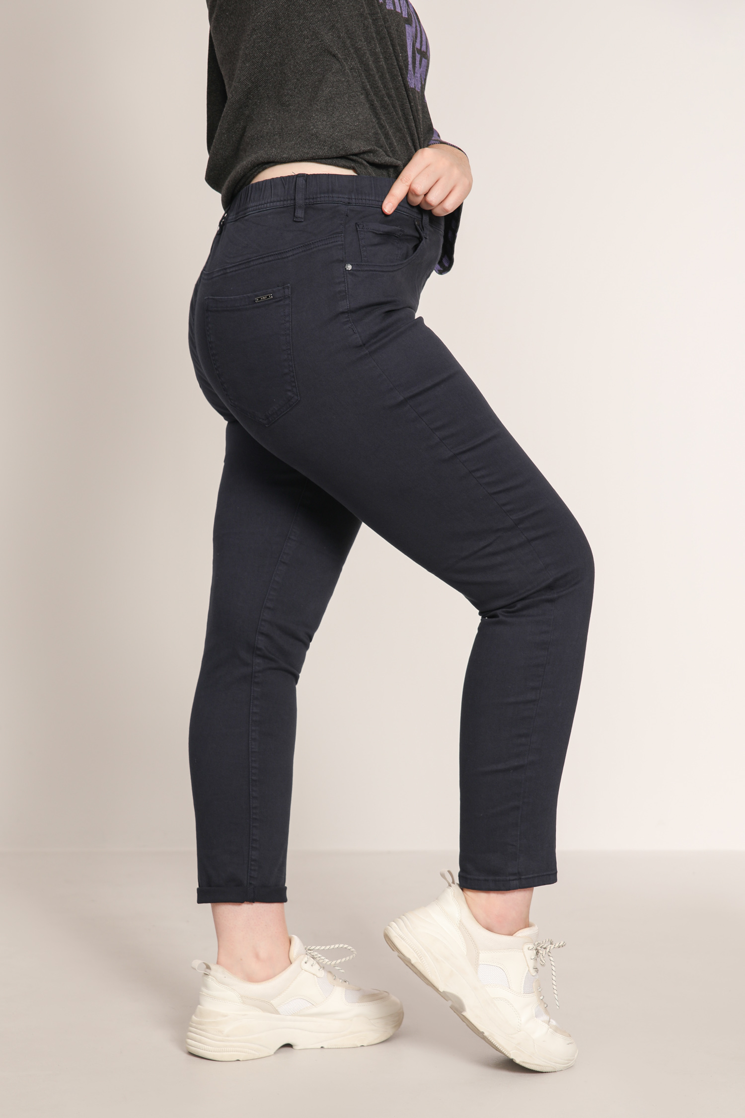 Elastic waist slim jeggings