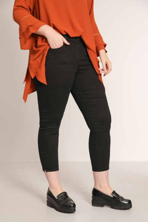 7/8 jeggings with zipped bottom