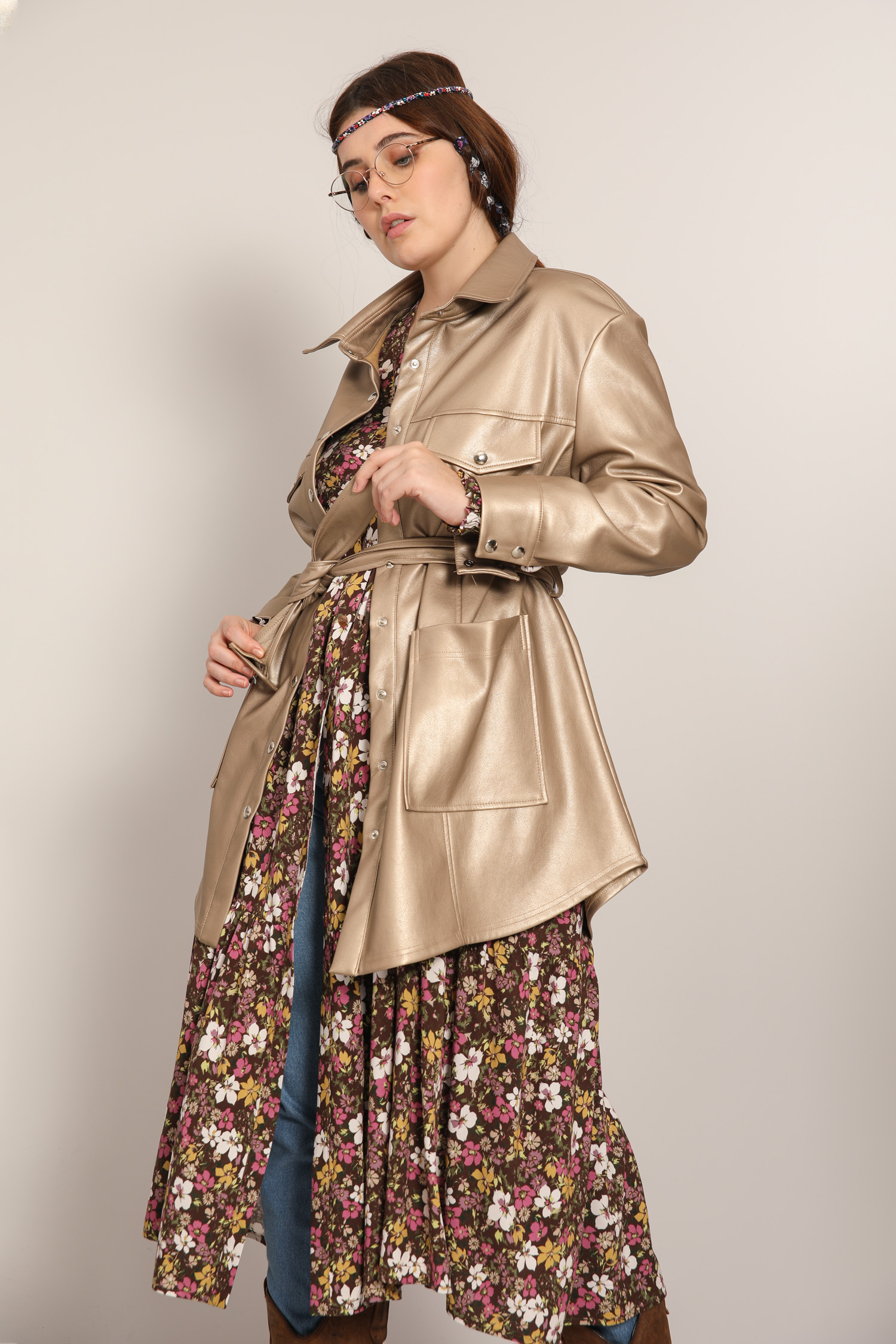 Saharan style jacket in vegan leather (Delivery November 15/20)