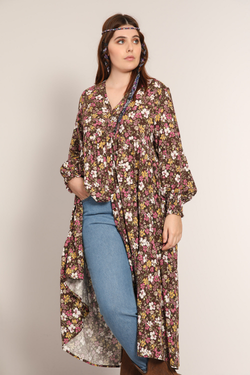 Long bohemian buttoned dress (Delivery October 30/November 5)