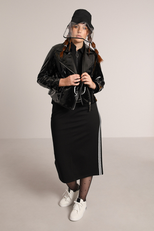Long skirt with band
