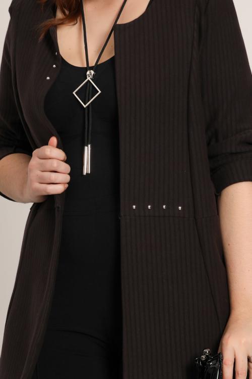 Textra striped stretch jacket
