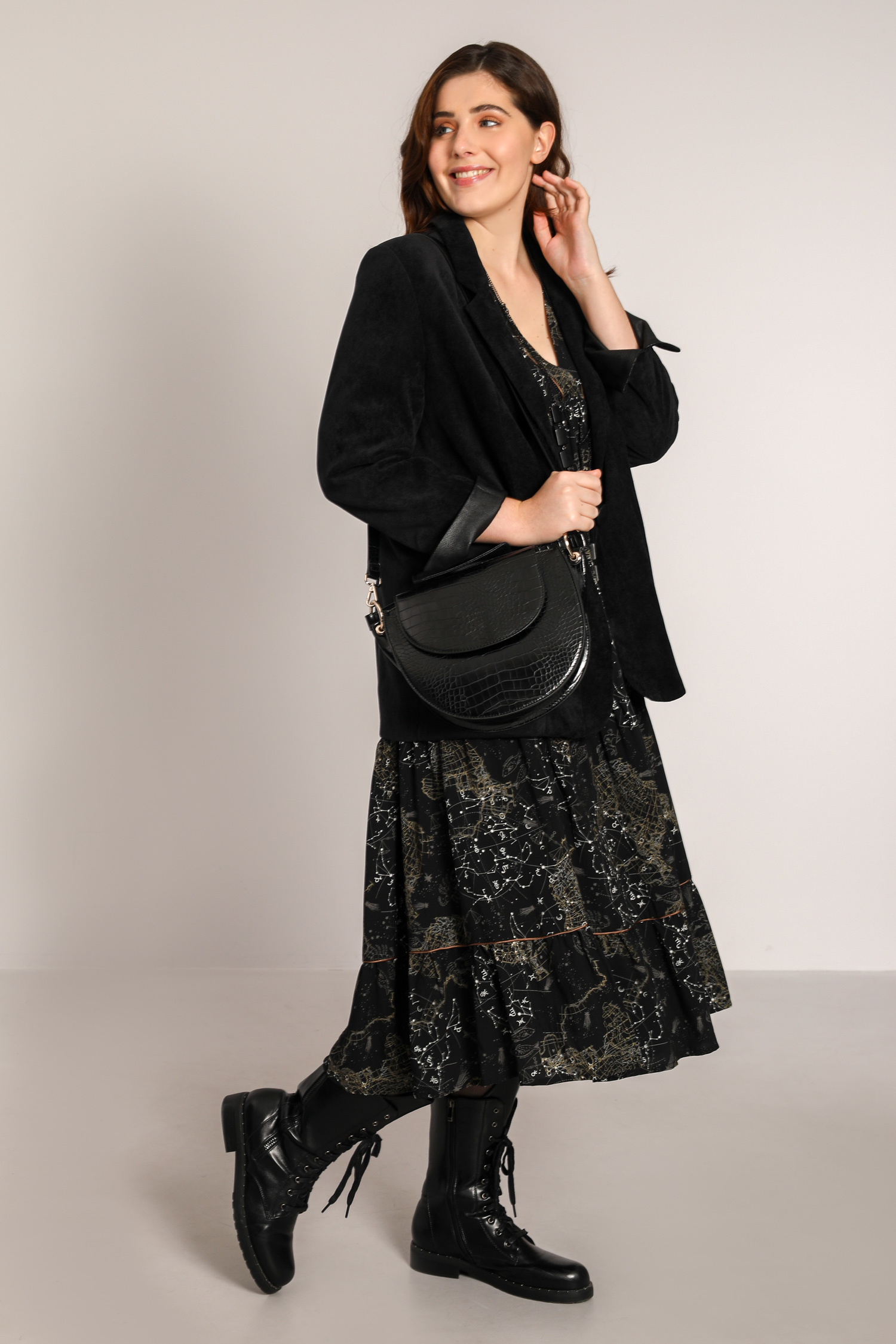 Bohemian-style printed long dress