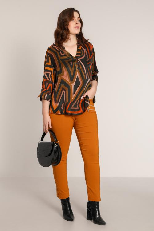 3/4 sleeve printed blouse