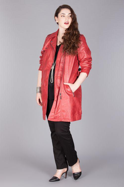Long manteau cuir