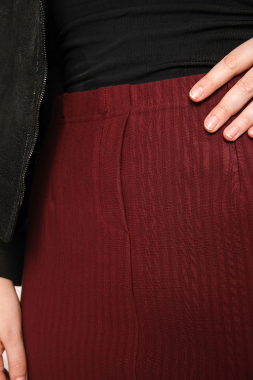 Stretch striped skirt