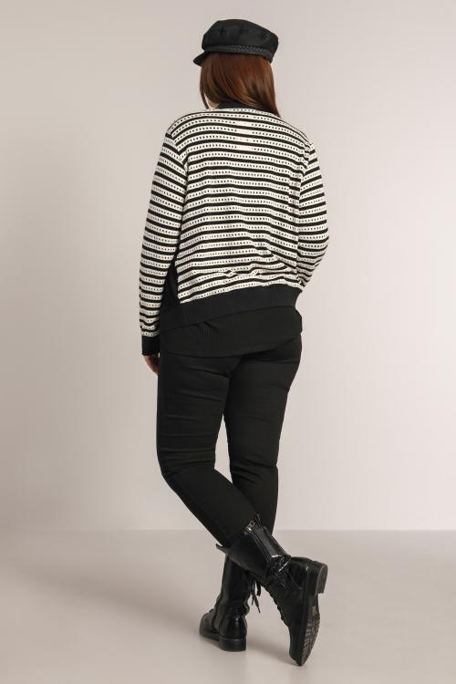 Striped knit jacket