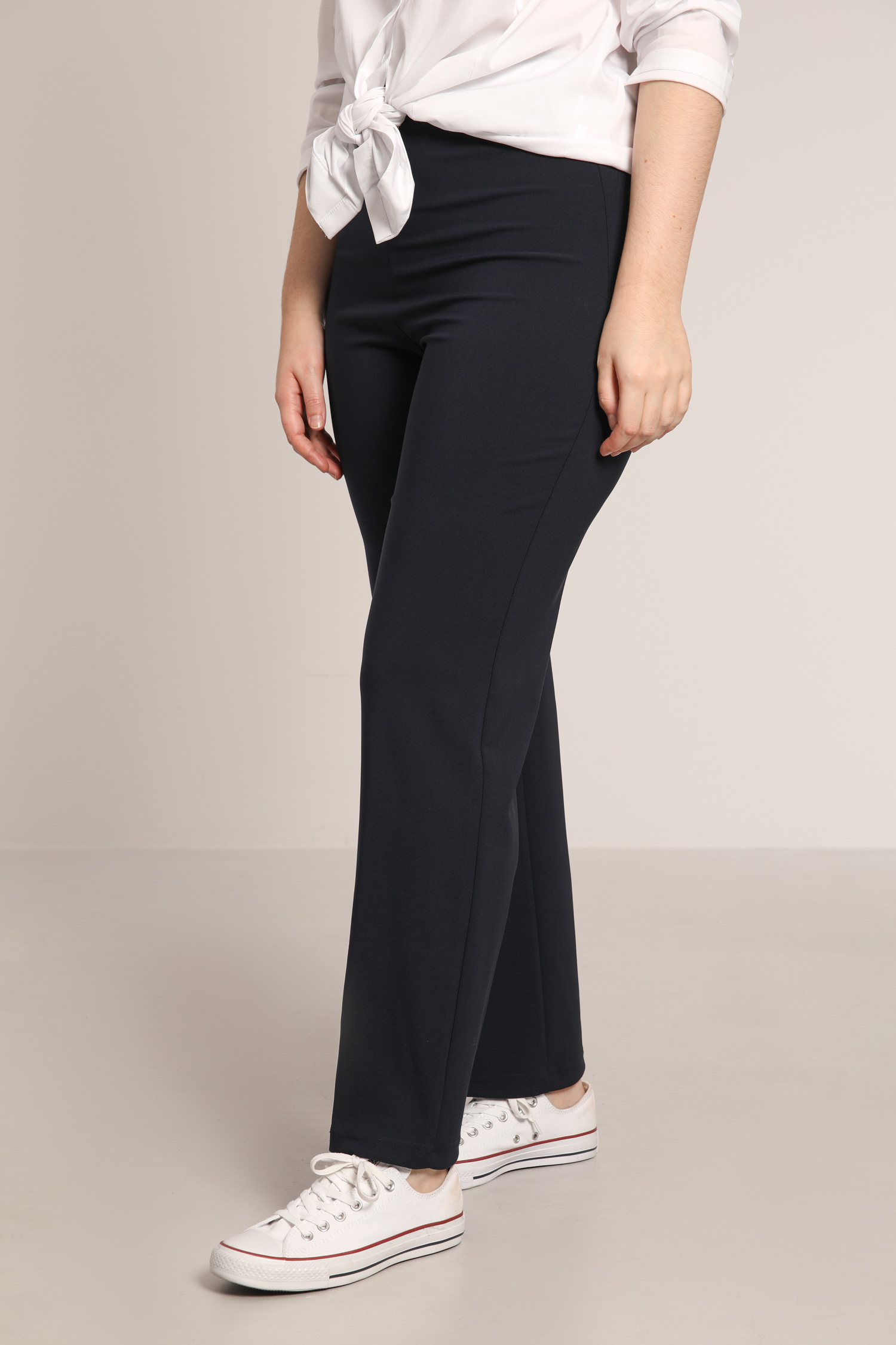 Straight elastic waist pants