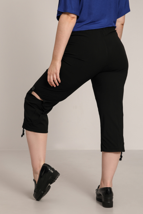 7/8 pants with side cutout