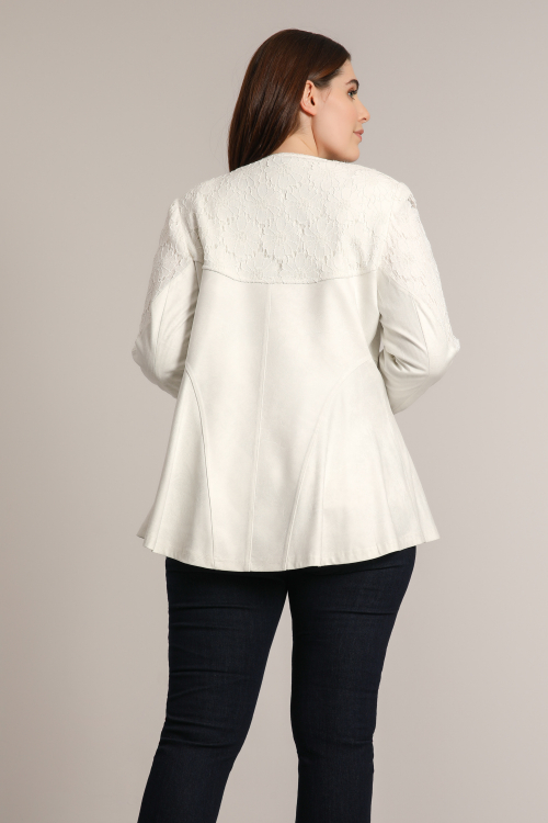 Faux and lace jacket